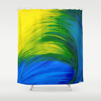 Feathers Shower Curtain by Sierra Christy Art