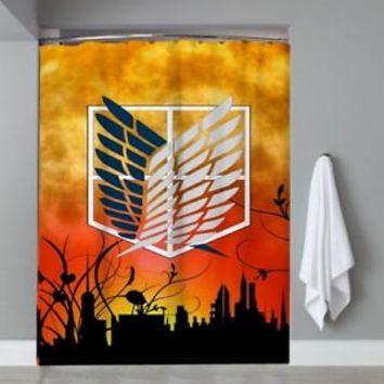 Attack On Titan Scouting Legion Logo Custom Shower Curtain Limited Edition