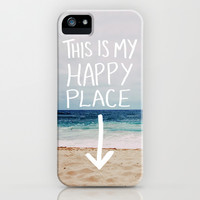 My Happy Place (Beach) iPhone & iPod Case by Leah Flores Designs