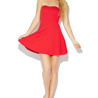 Fit & Flare Tube Skater Dress | Wet Seal