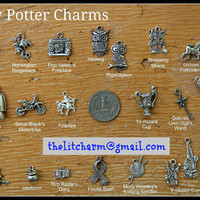 Harry Potter Themed Pewter Charms - Extensive Collection