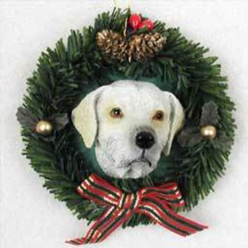 LABRADOR RETRIEVER YELLOW WREATH ORNAMENT