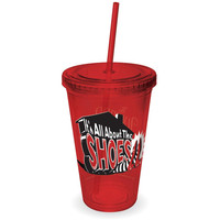 Wizard of Oz - It's All About the Shoes Colored Acrylic Tumbler With Straw