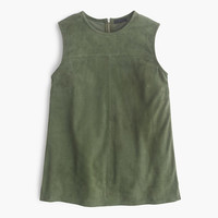 J.Crew Womens Collection Suede Shell Top