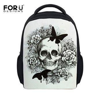 BACKPACK Kid's Punk Skull Children Backpack School Book Bags For Boy