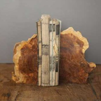 Cacao Wood Bookends, Set of 2