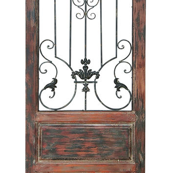 "Wood Metal Wall Decor  72""H, 19""W Wall Decor"
