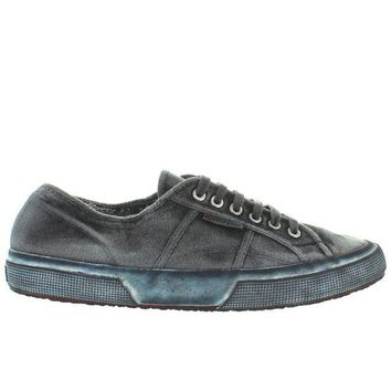 ONETOW Superga 2750 Classic - Black Worn Canvas Lace Sneaker