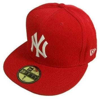 New York Yankees New Era Mlb Authentic Collection 59fifty Cap Red White