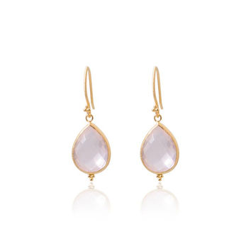 Amma Earrings • Rose Quartz • Gold Vermeil