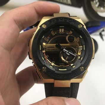 HCXX C013 Casio G-Shock GST-210 Shockproof Waterproof Automatic Mechanical Watches Black Gold