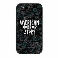 American Horror Story Quotes Black iPhone 4 Case