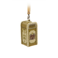 Disney Parks Main Street USA Trash Can Ceramic Christmas Ornament New with Tags