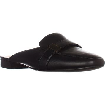 A35 Aidaa Open Heel Loafers, Black Leather, 5 US