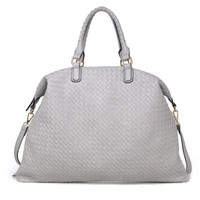 POINTSETTIA HANDBAG/ GREY