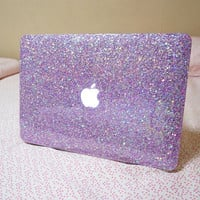 personalised glittered Macbook Cover