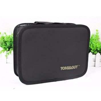 Professional Hairdressing Tool Bag Barber Salon Portable Tool Case For Hair Styling Tools Storage PU leather Hair Scissors Bag