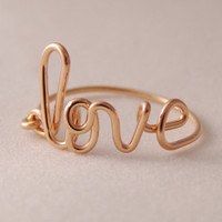 Love Ring.... handcrafted in 14kt gf rose gold