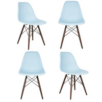 eModern Decor Shell Matte Side Chair