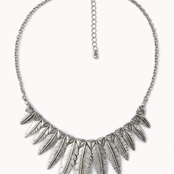 Etched Feather Necklace