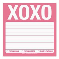 XOXO Sticky Notes