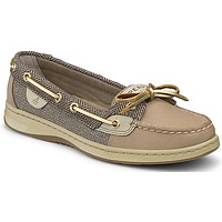Women's Angelfish Boat Shoe in Linen Herirngbone by Sperry