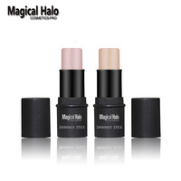 1pc Magical Halo PRO Face Series Shimmer Stick Brighten Highlighter Stick Contour Skin Color 3D Face Gold/silver Bronzer Makeup