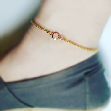 Thin Ankle Bracelet , Thin Anklet , gold anklet , boho beach anklet , dainty gold anklet , bridesmaid anklet , bridesmaid gift , surfer girl