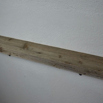 "Wood shelf from upcylced old wood 34"" x 5"" , absolutely beautiful!"