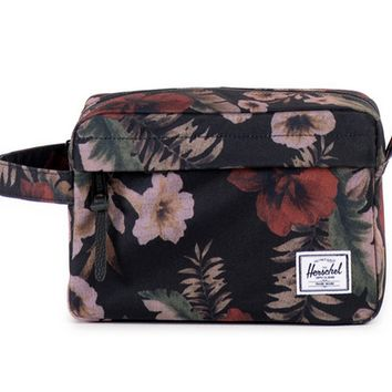 HERSCHEL SUPPLY CO CHAPTER TRAVEL KIT BLACK/HAWAIIANCAMO