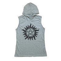 Supernatural Tattoo Shirt Tank Top Women T-Shirt Hoodie Muscle Tee Size S M