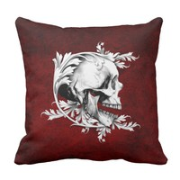 Skull Cameo 1 Throw Pillow