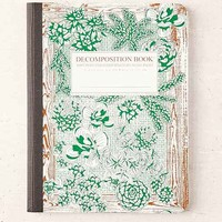 Decomposition Book Succulent Notebook- Green One