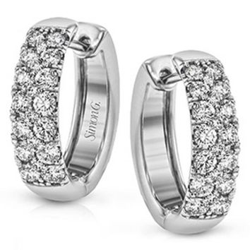 Simon G. Classic Pave Diamond Huggie Earrings