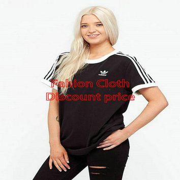 adidas Originals T-Shirt Womens Black M-3XL 2018 UK adidas Originals Spring Clothing