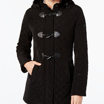 Laundry by Shelli Segal Quilted Toggle Coat - Coats - Women - Macy's