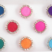 Bridal Multicolors Round Bindis/Wedding Beautiful Colored Bindis/Bridal Big Bind