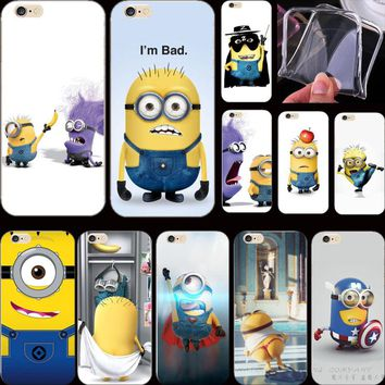 1PC High Quality Silicon Cover Despicable Yellow Minion Case For Apple iPhone 5 iPhone 5S iPhone5S/5 Cases Shell 2017 Best Hot