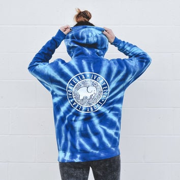 Oversized Blue Storm Hoodie