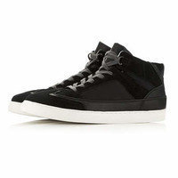 Black Double Layered Hi Tops* - Sale