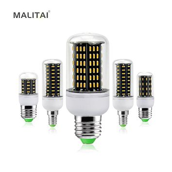 Ultra High Luminous Flux 4014SMD E27 E14 Corn LED lamp Bulb 38/55/78/88/140LEDs Chandelier 220V No Flicker LED Bulbs Spot light