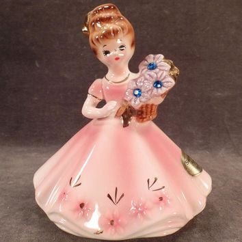 Vintage Josef Original – Old Porcelain Birthday Girl - September with Sapphire Birthstones