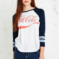 Coca Cola Baseball Tee in Blue - Urban Outfitters