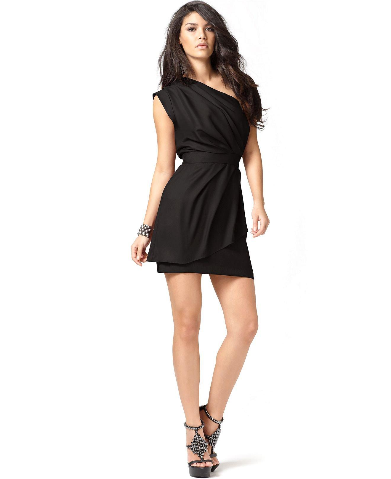 Bcbgeneration Dress One Shoulder Layered From Macys