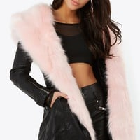 Pink Panther Faux Fur Coat