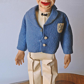 1950's Palitoy Archie Andrews Ventriloquist Doll, Made In England, Vintage Doll