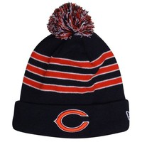 New Era Chicago Bears 2013 On-Field Player Sideline Sport Knit Hat - Navy Blue/Orange