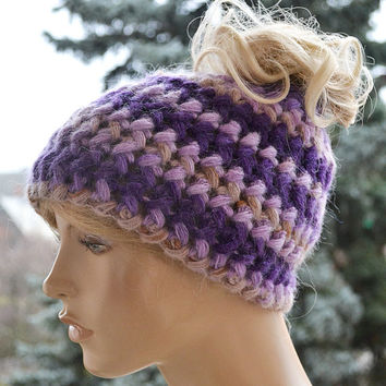 Messy Bun Beanie Ponytail Hole Hat lovely and warm beanie autumn and winter accessories,winter is coming