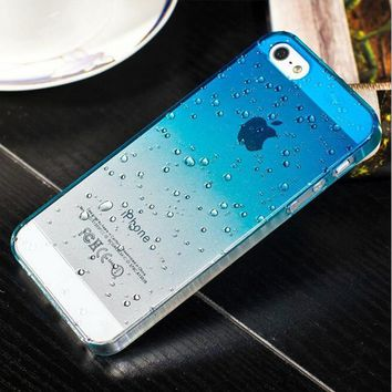 Phone Protective Shell 3D Raindrops Waterdrop Gradient Cases Cover For Iphone5S 4s Case For IPhone5 6 6plus 7 8 7plus 8plus Case