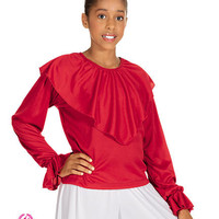 Eurotard Shawl Collared Blouse - Child